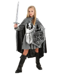 Fun Costumes girls Girl's Warrior Knight Costume Small