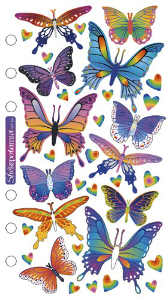 Sticko Classic Stickers, Foil Butterflies
