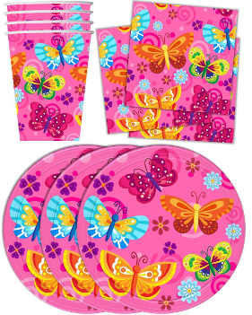 kids butterfly party supplies